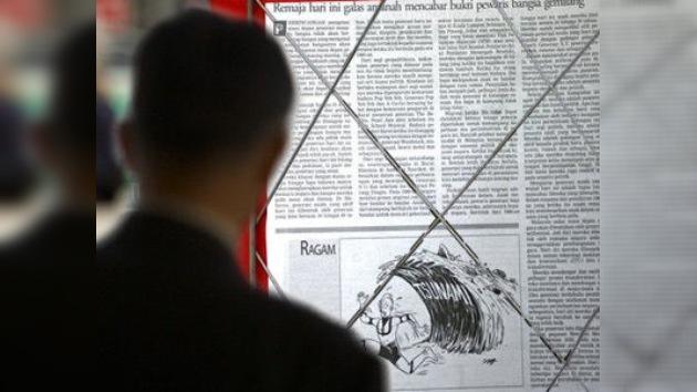 Un diario malayo pidió disculpas por una caricatura del tsunami en Japón