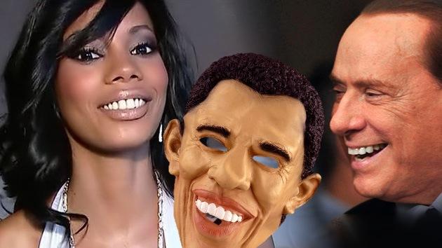 Las prostitutas de Berlusconi se vestían de Obama