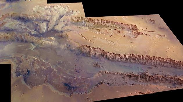 Marte alberga un cañón 10 veces más largo que el del Colorado