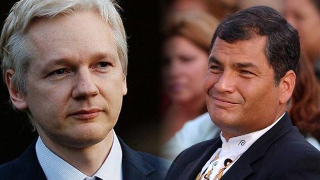 Assange y Correa, la esperada entrevista en RT
