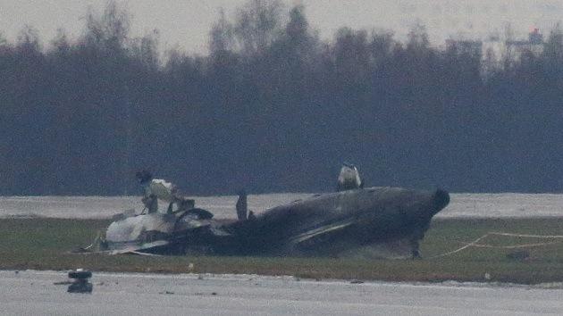 Video: Impactantes imágenes del siniestro del avión Falcon-50 en Moscú