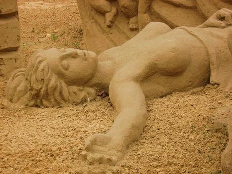 Exposición de esculturas de arena por los 863 años de Moscú