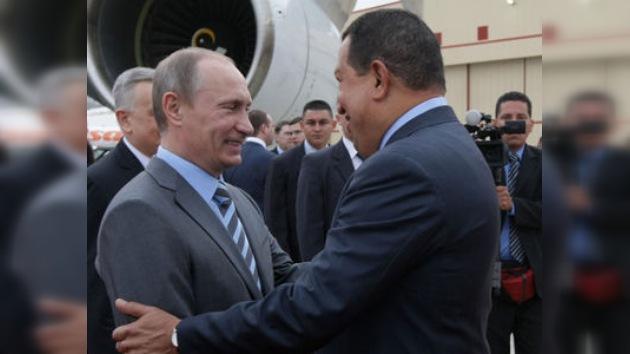 Vladímir Putin llega a Caracas en visita oficial