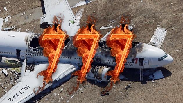 Internautas hallan coincidencias místicas en el accidente del Boeing 777 en EE.UU.