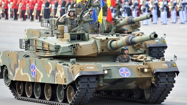 Corea del Sur celebra su mayor desfile militar de la última década
