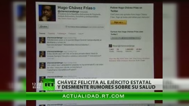 Hugo Chávez reaparece en Twitter mientras sigue hospitalizado en La Habana