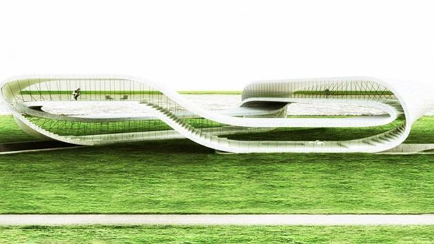 Fotos: Proyecto de un edificio basado en la cinta de Möbius e impreso en 3D