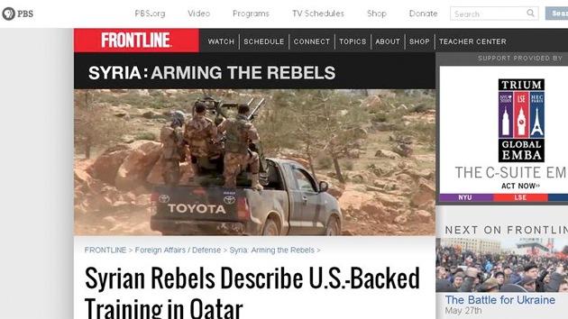 Video: Militares de EE.UU. entrenan a rebeldes sirios en una base secreta de Catar