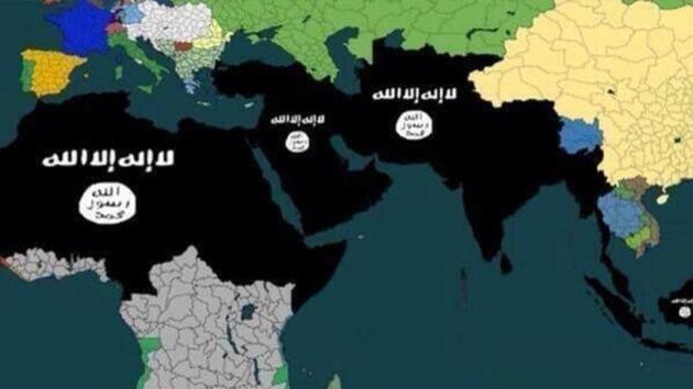 EIIL publica un mapa que revela un plan para controlar el petróleo de Oriente Medio