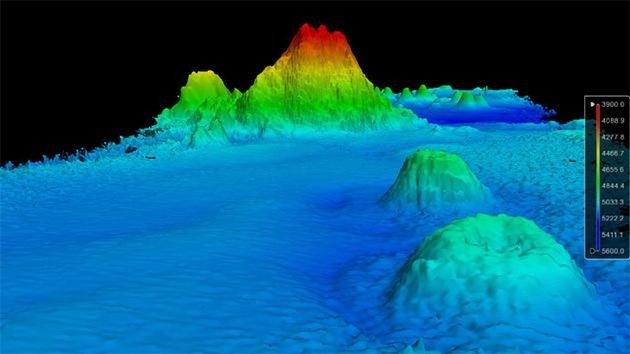 Descubren una montaña submarina de 100 millones de años en medio del Pacífico