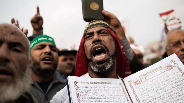 FOTOS: Tahrir, ocupada en la víspera del referéndum sobre la Constitución