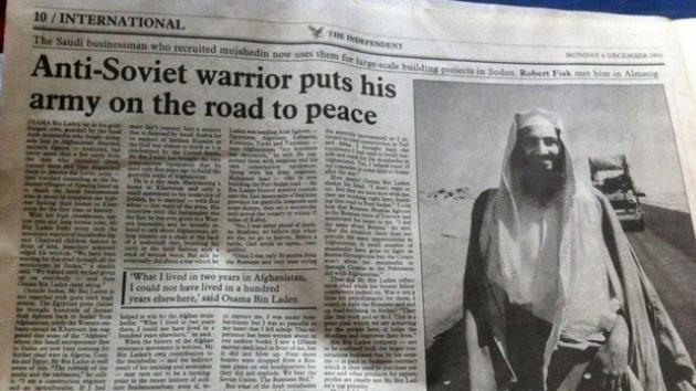 """La prensa británica tachaba en 1993 a Bin Laden de """"guerrero antisoviético de paz"""""""