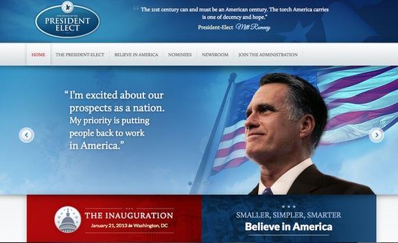 La campaña de Romney lanza por error una página web dedicada a su victoria