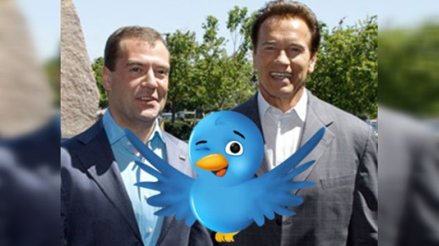 Medvédev y Schwarzenegger ya son amigos en Twitter