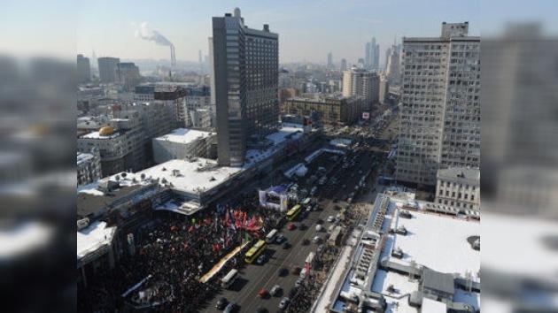 Al menos 10.000 personas se manifiestan en Moscú 'por unas elecciones justas'