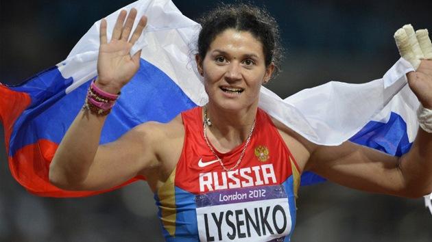 La rusa Tatiana Lysenko gana el oro en lanzamiento de martillo en Londres 2012