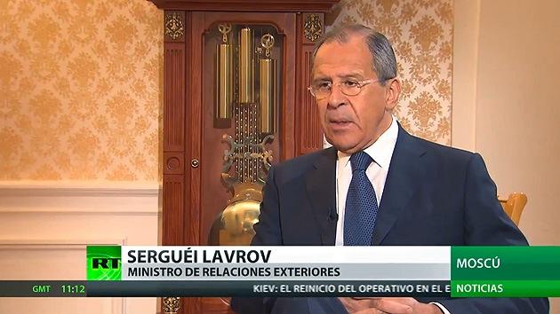Lavrov: La declaración en tono fiscal de Kerry sobre RT es inaceptable