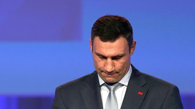 Vitali Klichkó no luchará por la presidencia de Ucrania