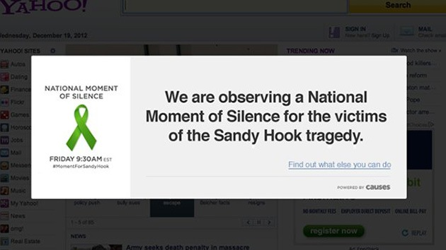 Un minuto de silencio en Internet por las víctimas de la masacre de Connecticut