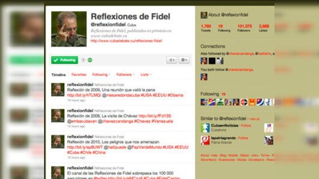 Más de 100.000 personas siguen las reflexiones de Fidel Castro en Twitter