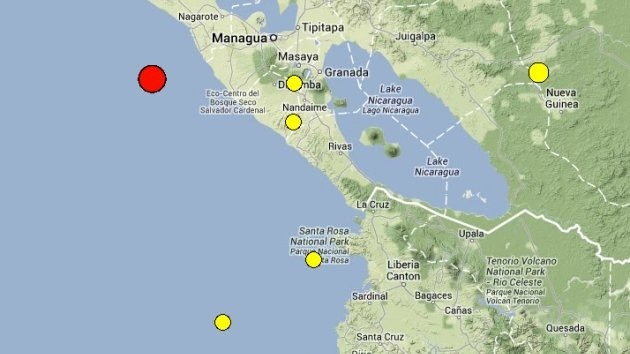 Fuerte sismo de 6,6 sacude Centroamérica