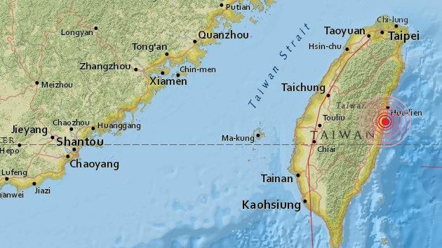 Se registra un sismo de magnitud 5,9 en Taiwán
