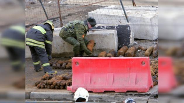 Hallan en Moscú 916 proyectiles que datan de la Segunda Guerra Mundial