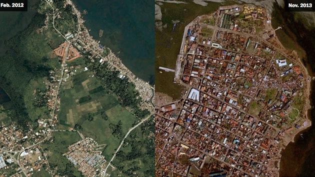 Fotos: Filipinas, antes y después del supertifón Haiyan
