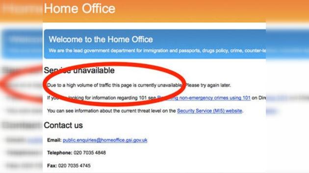 Anonymous 'apaga' las páginas web del Gobierno de Reino Unido