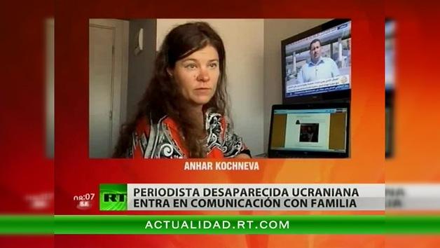 La periodista ucraniana desaparecida en Siria da señales de vida