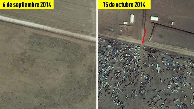 Fotos por satélite: Kobani antes y después de la ofensiva del EI y el bombardeo de EE.UU.