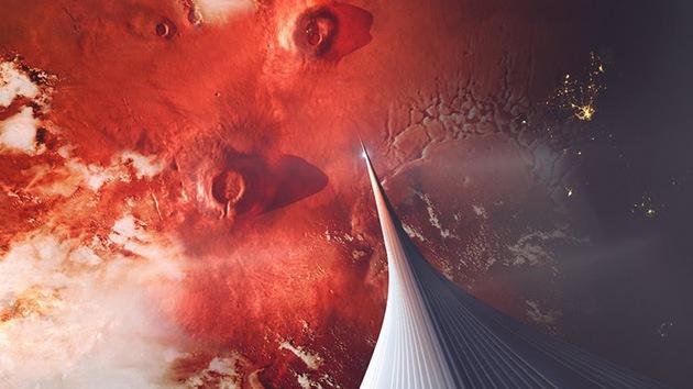 Imágenes: ¿Como podría ser en la realidad un ascensor marciano?