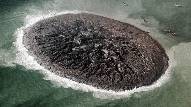 Fotos: Primeras imágenes captadas por la NASA de la nueva isla en Pakistán