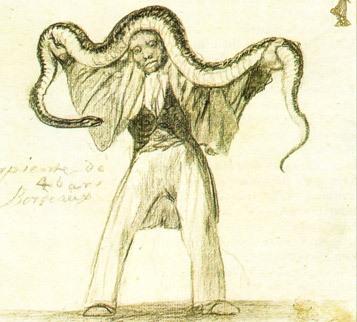 Serpiente de cuatro varas en Burdeos, Francisco Goya
