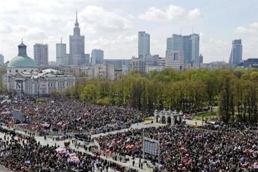 Plaza Pilsudski por AFP/Janek Skarzynski