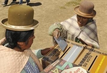 elecciones locales en Bolivia, foto AFP