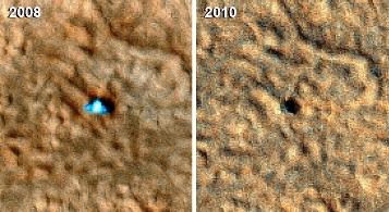 Phoenix en la superficie de Marte