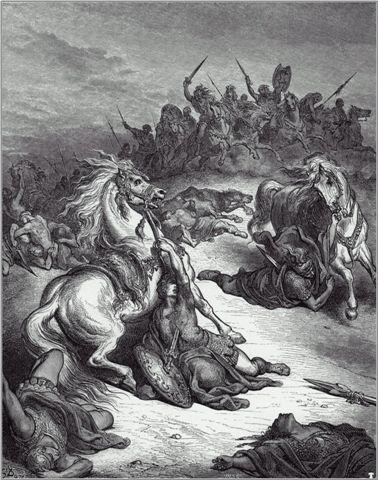 """La muerte de Saúl"" por Gustavo Duré"