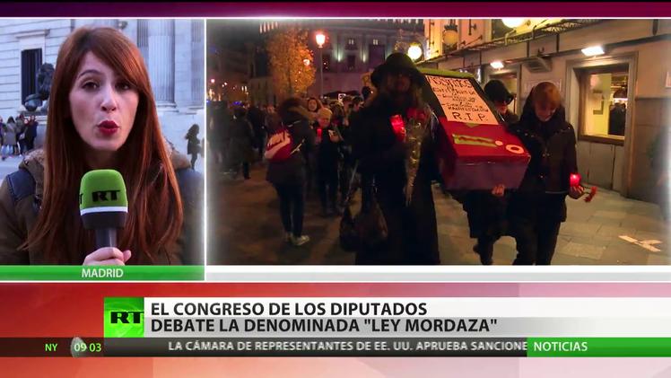 El Congreso español vota la polémica 'ley Mordaza'