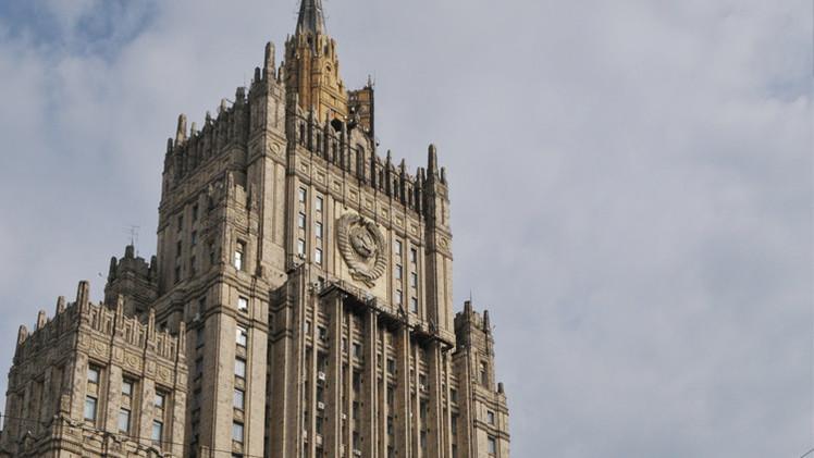 """Cancillería rusa: """"Moscú no va a obedecer el dictado de EE.UU."""""""