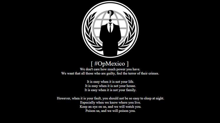 Anonymous ataca webs mexicanas en protesta por el caso Iguala