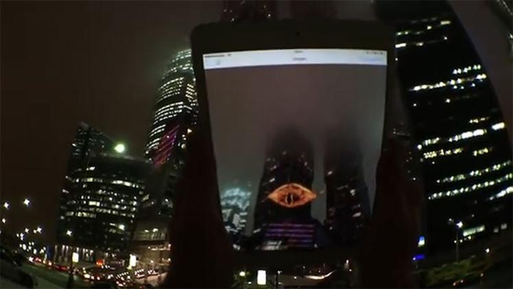 Video: 'El Ojo de Sauron' brilla sobre Moscú en una modificada versión navideña