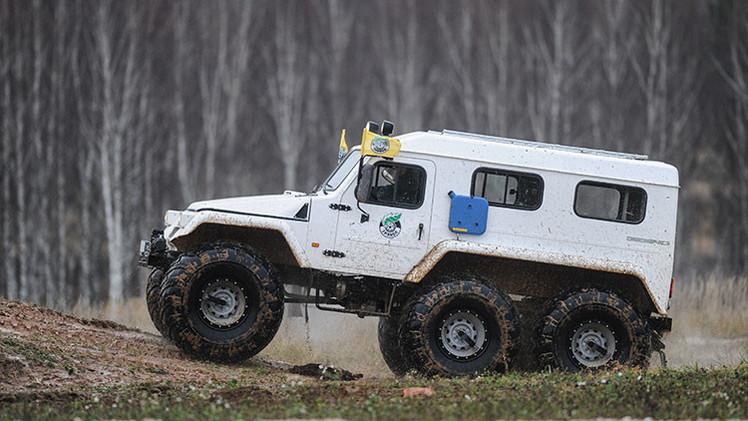 Video: Rusia prueba en el Ártico dos nuevos vehículos de alta tecnología