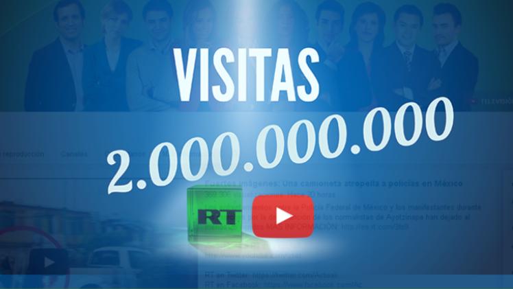 Los canales de RT en YouTube, los primeros del mundo con 2.000 millones de visitas