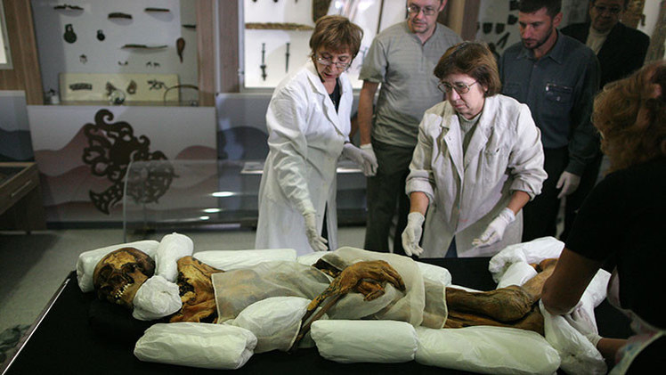 Fotos: Diseñan un mausoleo para la momia de una antigua princesa siberiana