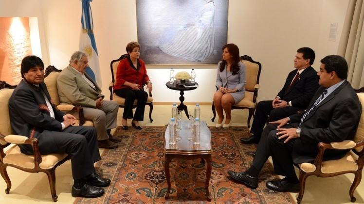"""Mercosur apoya a Argentina y reafirma """"su más absoluto rechazo"""" a los fondos buitre"""