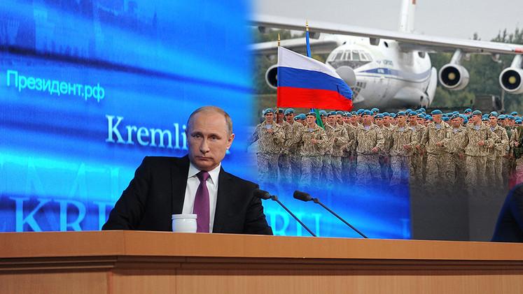 Putin: Rusia no ataca, solo defiende sus intereses, a eso se debe el descontento de EE.UU.