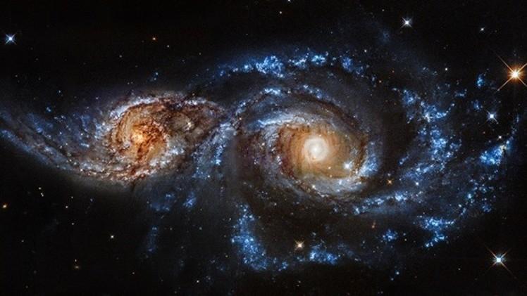 Fotos, video: Impresionante choque de dos galaxias captado por la NASA