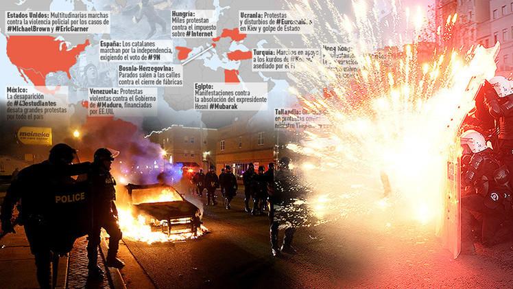 Infografía: Las protestas que conmocionaron al mundo en 2014