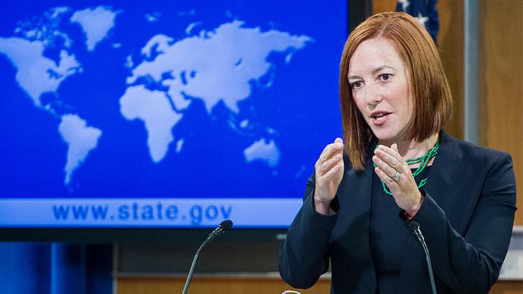 Psaki 'olvidó' las nuevas sanciones contra Rusia que ella misma anunció esta semana